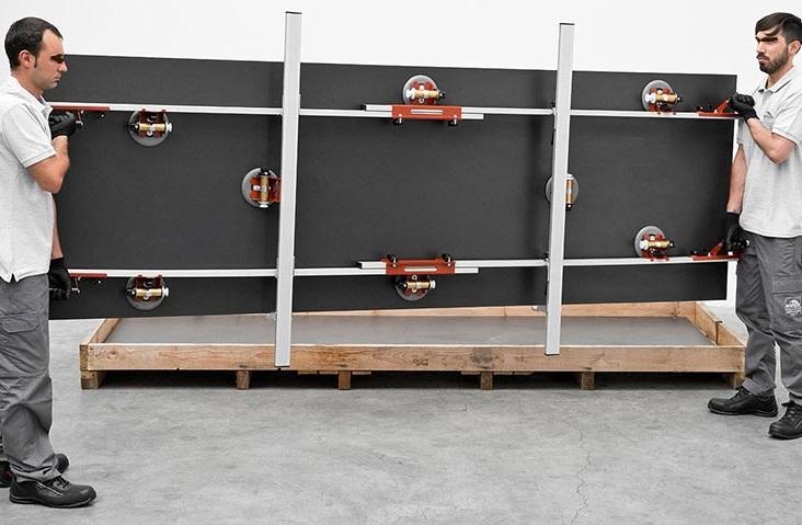 Solutions de manutention et façonnage céramiques grands formats