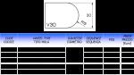 Meule CNC profil V20