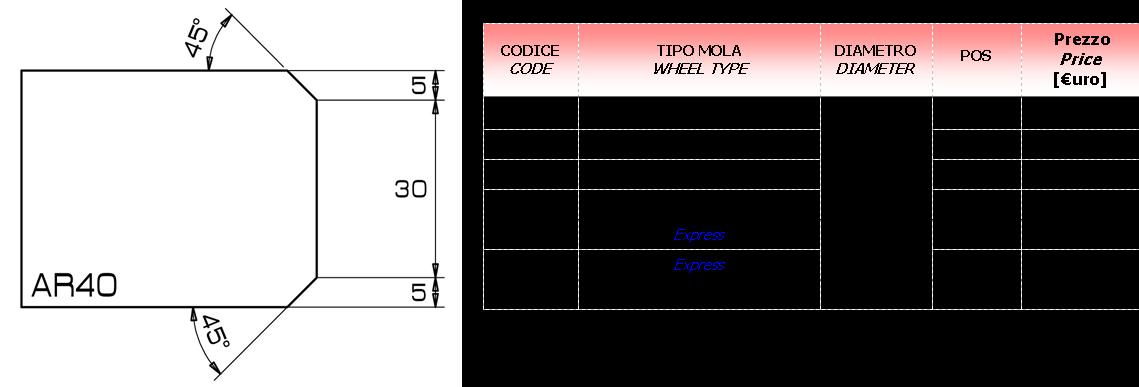 Meule CNC AR 40 D.20