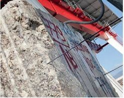 scie à cable bloc pierres