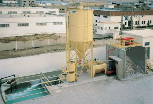 Station recyclage eaux boues