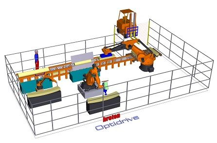 aire de travail robotisée