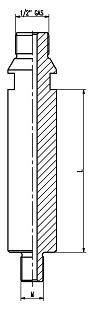 adaptateur M14 - 1/2 gas