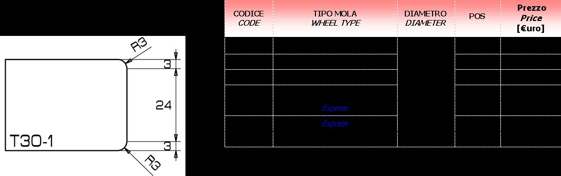 Meule CNC T-1 40D.20