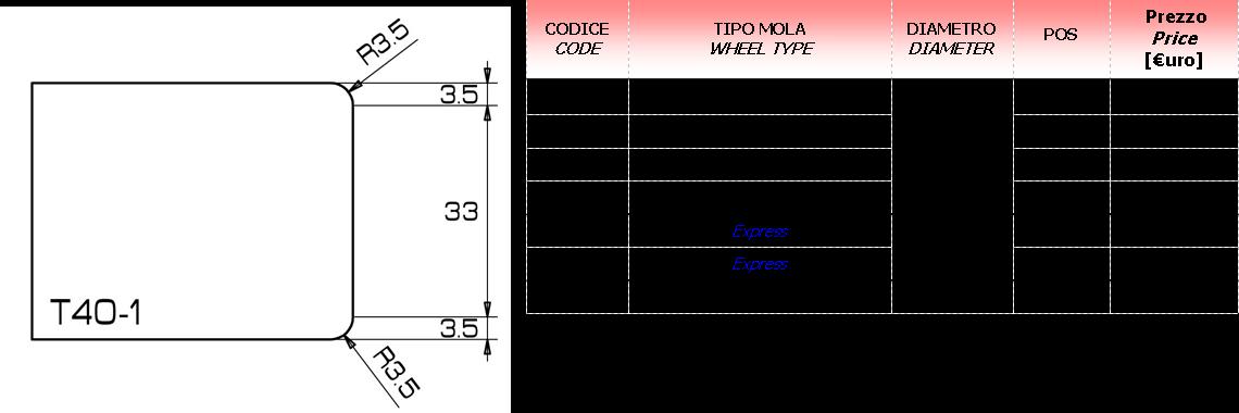 Meule CNC T-1 30D.20