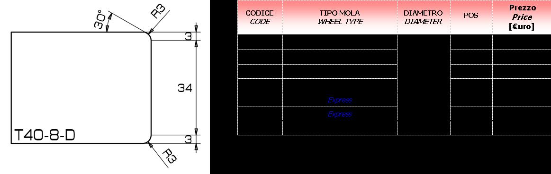 Meule CNC T-8-D 40  D.20