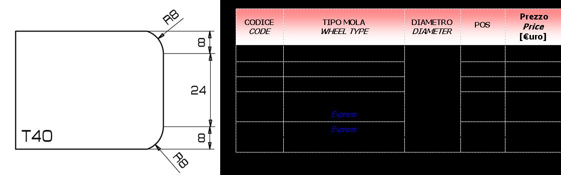 Meule CNC T40 D.20