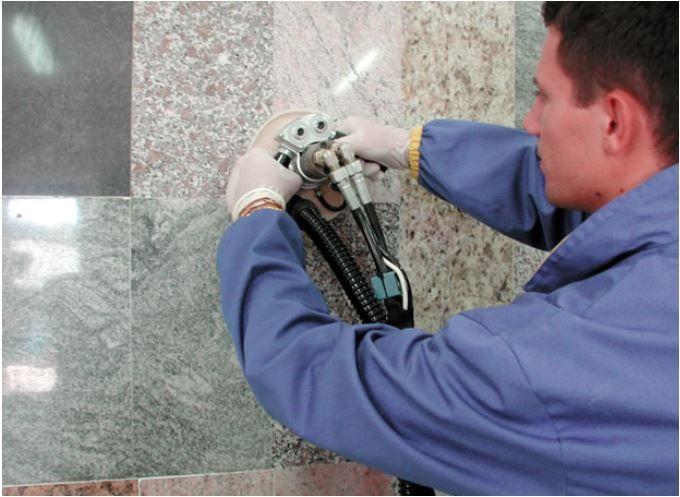 meuleuse hydraulique granit