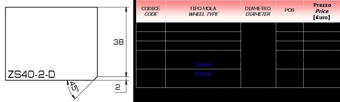 Meule CNC ZS-U 30 D.20
